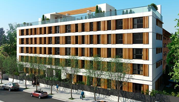 Imagen exterior edificio pisos obra nueva arturo soria 700x400 - Pisos de obra nueva en madrid ...